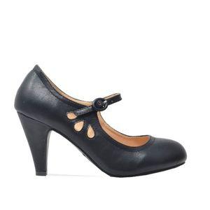 ⭐️ Women's Mary Jane Tear-Drop Black Retro Heels